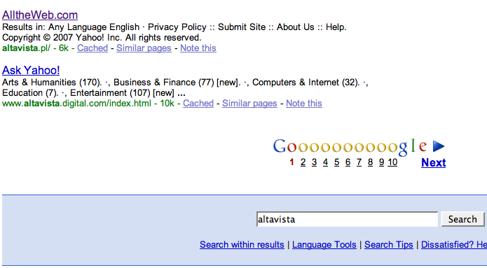 All the Internet Search Engine.