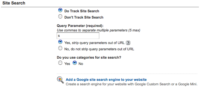 Google Analytics Do Track Site Search