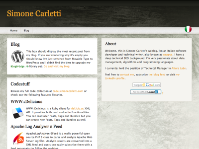 Blog before restyling